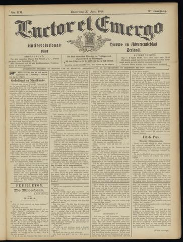 Luctor et Emergo. Antirevolutionair nieuws- en advertentieblad voor Zeeland / Zeeuwsch-Vlaanderen. Orgaan ter verspreiding van de christelijke beginselen in Zeeuwsch-Vlaanderen 1914-06-27