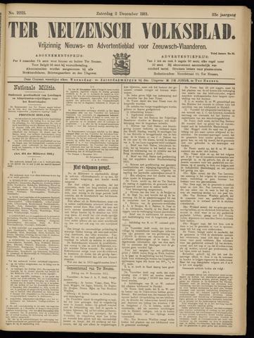 Ter Neuzensch Volksblad. Vrijzinnig nieuws- en advertentieblad voor Zeeuwsch- Vlaanderen / Zeeuwsch Nieuwsblad. Nieuws- en advertentieblad voor Zeeland 1911-12-02