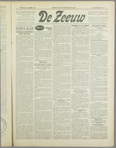 De Zeeuw. Christelijk-historisch nieuwsblad voor Zeeland 1937-01-27