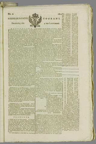 Middelburgsche Courant 1810-01-04