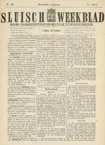 Sluisch Weekblad. Nieuws- en advertentieblad voor Westelijk Zeeuwsch-Vlaanderen 1875-10-22