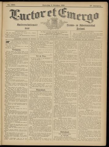 Luctor et Emergo. Antirevolutionair nieuws- en advertentieblad voor Zeeland / Zeeuwsch-Vlaanderen. Orgaan ter verspreiding van de christelijke beginselen in Zeeuwsch-Vlaanderen 1915-10-02