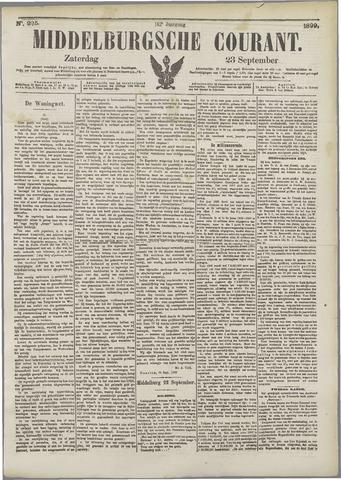 Middelburgsche Courant 1899-09-23