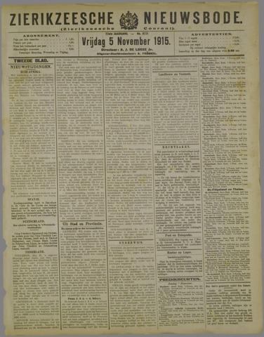 Zierikzeesche Nieuwsbode 1915-11-05