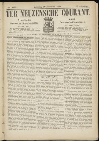 Ter Neuzensche Courant. Algemeen Nieuws- en Advertentieblad voor Zeeuwsch-Vlaanderen / Neuzensche Courant ... (idem) / (Algemeen) nieuws en advertentieblad voor Zeeuwsch-Vlaanderen 1880-11-20