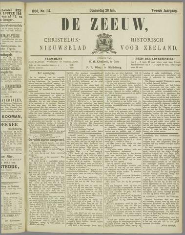 De Zeeuw. Christelijk-historisch nieuwsblad voor Zeeland 1888-06-28