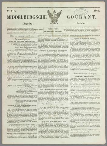 Middelburgsche Courant 1861-10-01