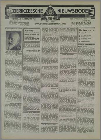 Zierikzeesche Nieuwsbode 1936-02-26