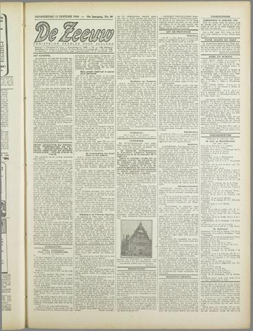 De Zeeuw. Christelijk-historisch nieuwsblad voor Zeeland 1944-01-13