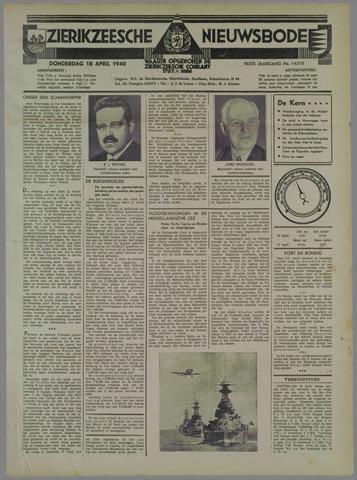 Zierikzeesche Nieuwsbode 1940-04-18