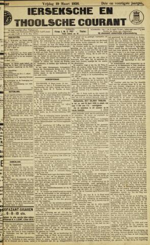 Ierseksche en Thoolsche Courant 1926-03-19