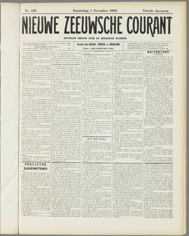 Nieuwe Zeeuwsche Courant 1906-11-01