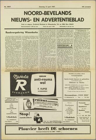 Noord-Bevelands Nieuws- en advertentieblad 1957-04-13