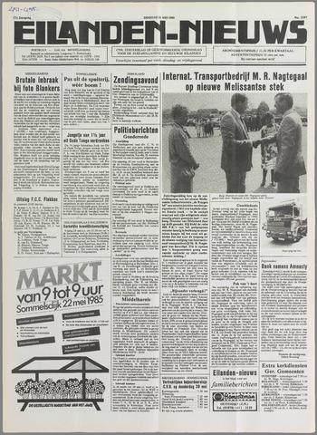 Eilanden-nieuws. Christelijk streekblad op gereformeerde grondslag 1985-05-21