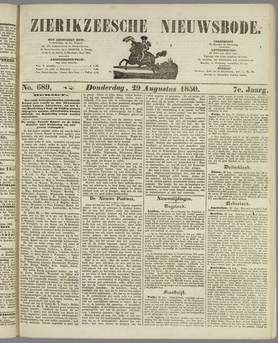 Zierikzeesche Nieuwsbode 1850-08-29