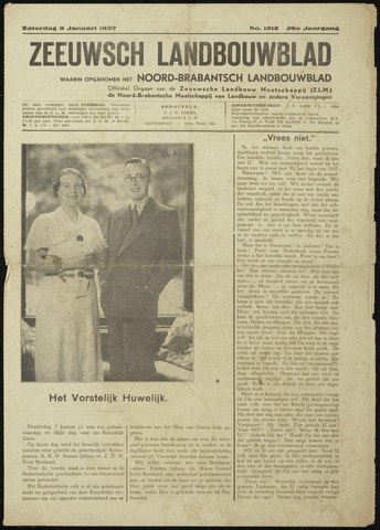 Zeeuwsch landbouwblad ... ZLM land- en tuinbouwblad 1937