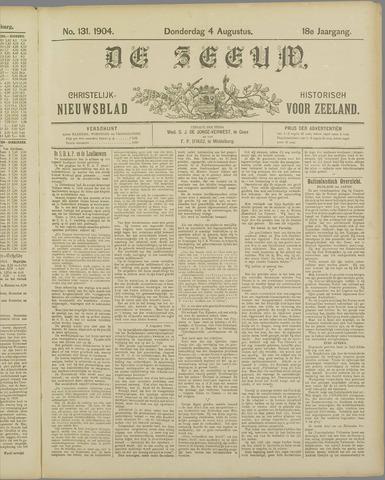 De Zeeuw. Christelijk-historisch nieuwsblad voor Zeeland 1904-08-04