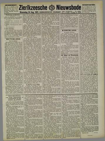 Zierikzeesche Nieuwsbode 1921-08-24