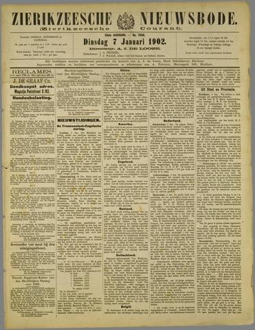 Zierikzeesche Nieuwsbode 1902-01-07