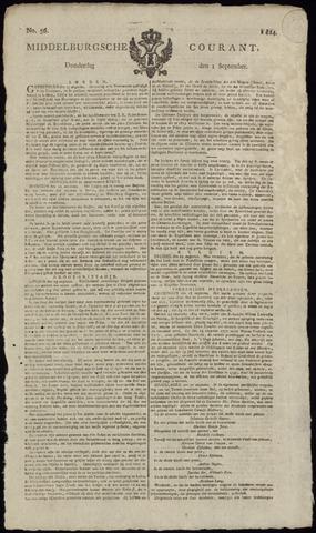 Middelburgsche Courant 1814-09-01