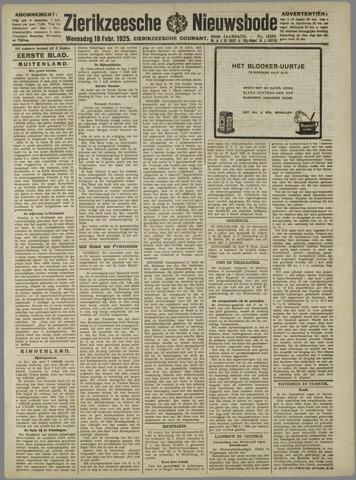 Zierikzeesche Nieuwsbode 1925-02-18