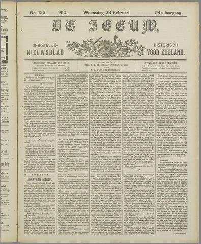De Zeeuw. Christelijk-historisch nieuwsblad voor Zeeland 1910-02-23