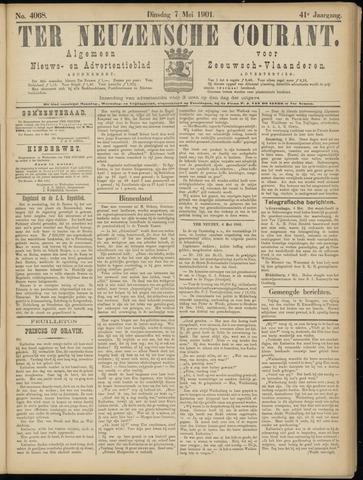 Ter Neuzensche Courant. Algemeen Nieuws- en Advertentieblad voor Zeeuwsch-Vlaanderen / Neuzensche Courant ... (idem) / (Algemeen) nieuws en advertentieblad voor Zeeuwsch-Vlaanderen 1901-05-07