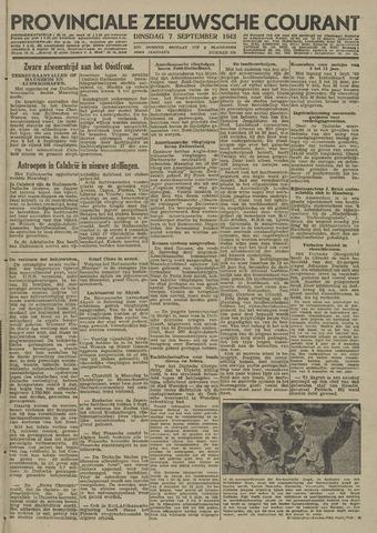 Provinciale Zeeuwse Courant 1943-09-07