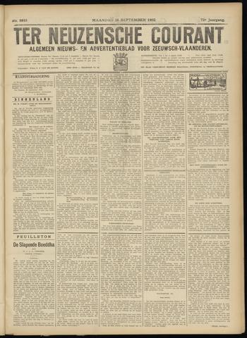 Ter Neuzensche Courant. Algemeen Nieuws- en Advertentieblad voor Zeeuwsch-Vlaanderen / Neuzensche Courant ... (idem) / (Algemeen) nieuws en advertentieblad voor Zeeuwsch-Vlaanderen 1932-09-26
