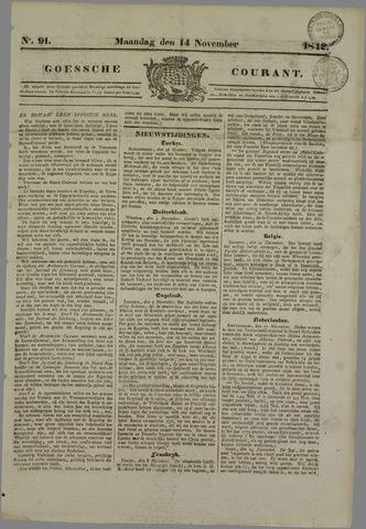 Goessche Courant 1842-11-14