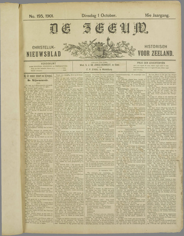 De Zeeuw. Christelijk-historisch nieuwsblad voor Zeeland 1901-10-01