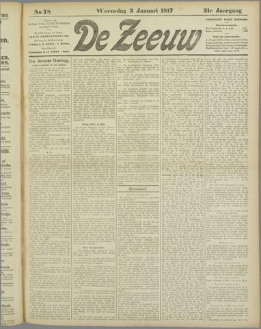 De Zeeuw. Christelijk-historisch nieuwsblad voor Zeeland 1917-01-03