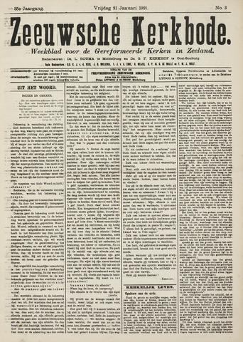Zeeuwsche kerkbode, weekblad gewijd aan de belangen der gereformeerde kerken/ Zeeuwsch kerkblad 1921-01-21