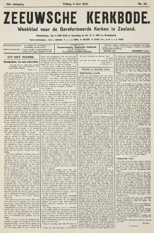 Zeeuwsche kerkbode, weekblad gewijd aan de belangen der gereformeerde kerken/ Zeeuwsch kerkblad 1926-06-04