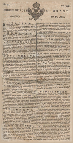 Middelburgsche Courant 1779-04-13