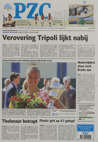 Provinciale Zeeuwse Courant 2011-08-22