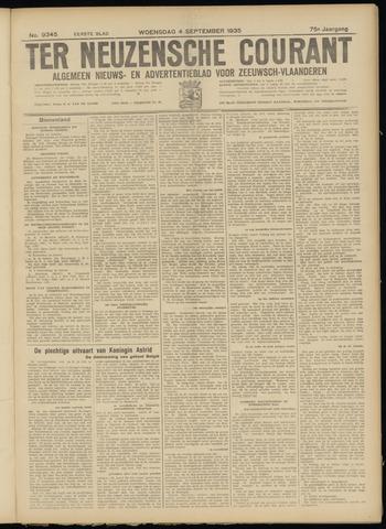 Ter Neuzensche Courant. Algemeen Nieuws- en Advertentieblad voor Zeeuwsch-Vlaanderen / Neuzensche Courant ... (idem) / (Algemeen) nieuws en advertentieblad voor Zeeuwsch-Vlaanderen 1935-09-04
