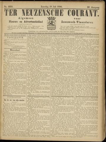 Ter Neuzensche Courant. Algemeen Nieuws- en Advertentieblad voor Zeeuwsch-Vlaanderen / Neuzensche Courant ... (idem) / (Algemeen) nieuws en advertentieblad voor Zeeuwsch-Vlaanderen 1896-07-18