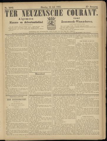 Ter Neuzensche Courant. Algemeen Nieuws- en Advertentieblad voor Zeeuwsch-Vlaanderen / Neuzensche Courant ... (idem) / (Algemeen) nieuws en advertentieblad voor Zeeuwsch-Vlaanderen 1897-07-13