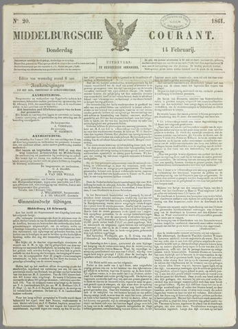 Middelburgsche Courant 1861-02-14