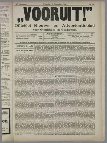 """""""Vooruit!""""Officieel Nieuws- en Advertentieblad voor Overflakkee en Goedereede 1912-11-13"""