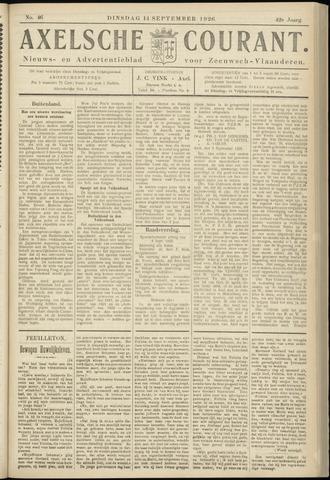 Axelsche Courant 1926-09-14