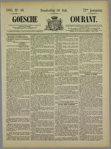 Goessche Courant 1885-07-30