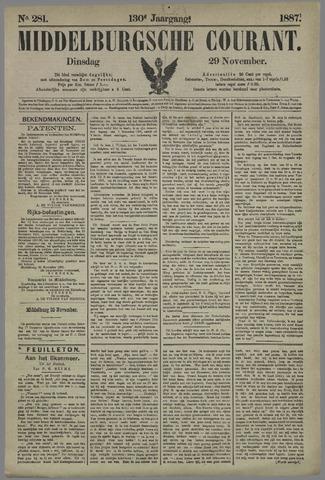 Middelburgsche Courant 1887-11-29