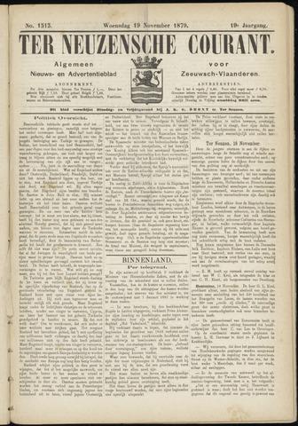Ter Neuzensche Courant. Algemeen Nieuws- en Advertentieblad voor Zeeuwsch-Vlaanderen / Neuzensche Courant ... (idem) / (Algemeen) nieuws en advertentieblad voor Zeeuwsch-Vlaanderen 1879-11-19