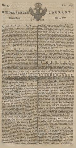 Middelburgsche Courant 1775-05-04