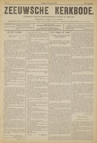 Zeeuwsche kerkbode, weekblad gewijd aan de belangen der gereformeerde kerken/ Zeeuwsch kerkblad 1940-01-12