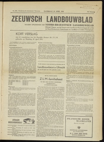 Zeeuwsch landbouwblad ... ZLM land- en tuinbouwblad 1955-04-23