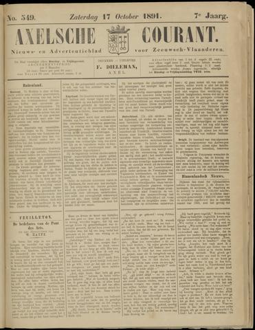 Axelsche Courant 1891-10-17