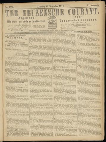 Ter Neuzensche Courant. Algemeen Nieuws- en Advertentieblad voor Zeeuwsch-Vlaanderen / Neuzensche Courant ... (idem) / (Algemeen) nieuws en advertentieblad voor Zeeuwsch-Vlaanderen 1911-11-11